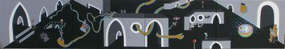 ŽIVOT, akril na platnu, 400x70cm